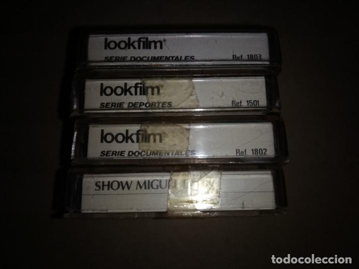 Cine: lote 4 peliculas para mini proyector Lookfilm -original años 70 - Foto 2 - 118740303
