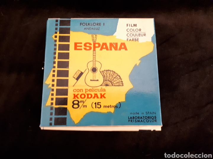 ESPAÑA FOLKLORE I ANDALUZ CON PELÍCULA KODAK 8 MM. 15 M. (Cine - Películas - 8 mm)