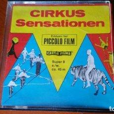 Cine: PELICULA SUPER 8 CIRKUS SENSATIONEN - CIRCO SENSACIONAL- PICCOLO FILM. Lote 131179136
