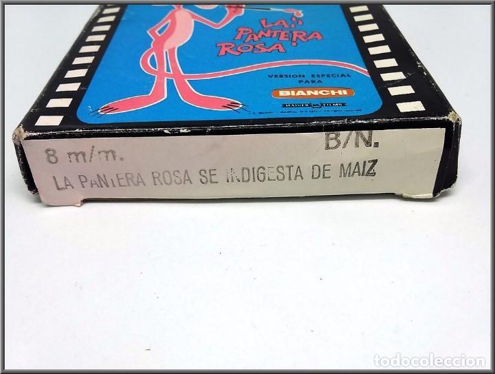 Cine: PELICULA 8 MM BIANCHI LA PANTERA ROSA SE INDIGESTA DE MAIZ B/N - Foto 3 - 137307674