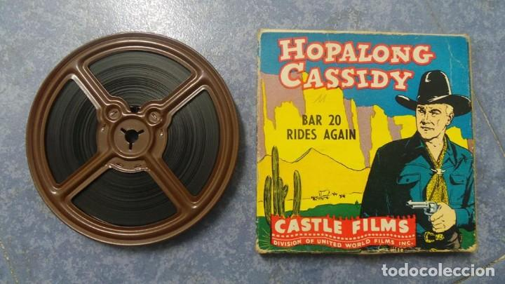 HOPALONG CASSIDY-BAR 20 RIDES AGAIN , PELÍCULA 8 MM-CULT-RETRO,VINTAGE FILM AÑOS 40 (Cine - Películas - 8 mm)