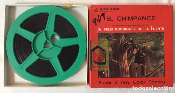 Cine: PELÍCULA CORTOMETRAJE SÚPER 8MM, EL CHIMPANCÉ, DE FÉLIX RODRÍGUEZ DE LA FUENTE - Foto 2 - 179220995