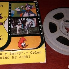 Cine: PELÍCULA A COLOR 8 MM TOM Y JERRY - EL PRIMO DE JERRY - JUGUETES BIANCHI. Lote 181070467