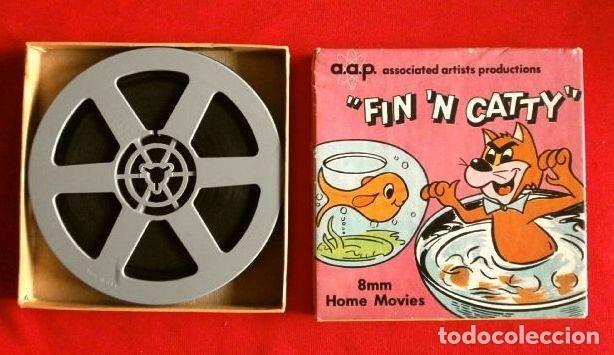 DIBUJOS ANIMADOS (ANTIGUA PELICULA 8 MM) FIN 'N CATTY (MADE IN USA) A.A.P. CARTOONS - B/N MUDA 13 CM (Cine - Películas - 8 mm)