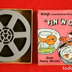Cine: DIBUJOS ANIMADOS (ANTIGUA PELICULA 8 MM) FIN 'N CATTY (MADE IN USA) A.A.P. CARTOONS - B/N MUDA 13 CM. Lote 182695331