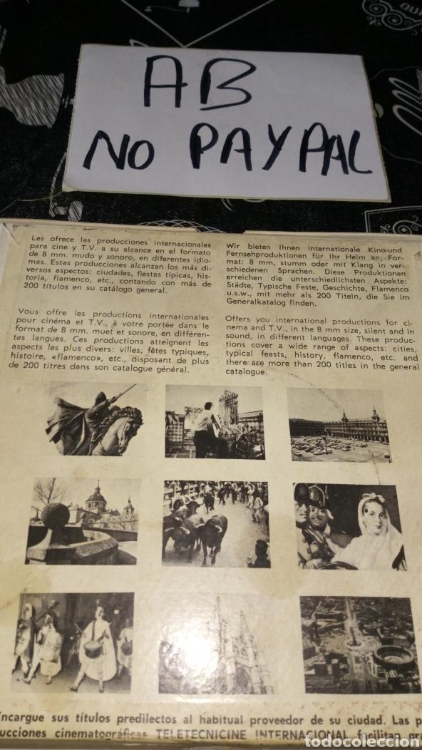Cine: Película 8mm teletecnicine internacional no probada en apariencia en buen estado - Foto 3 - 191479925