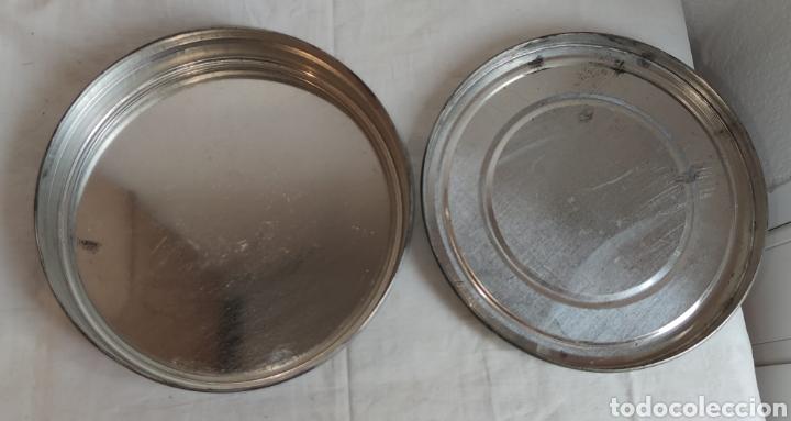 Cine: ANTIGUA CAJA METALICA LATA PARA PELICULA SUPER 8 Y 8MM - Mide 19 cm de diametro. Mide 4,2 cm alt - Foto 6 - 214749180