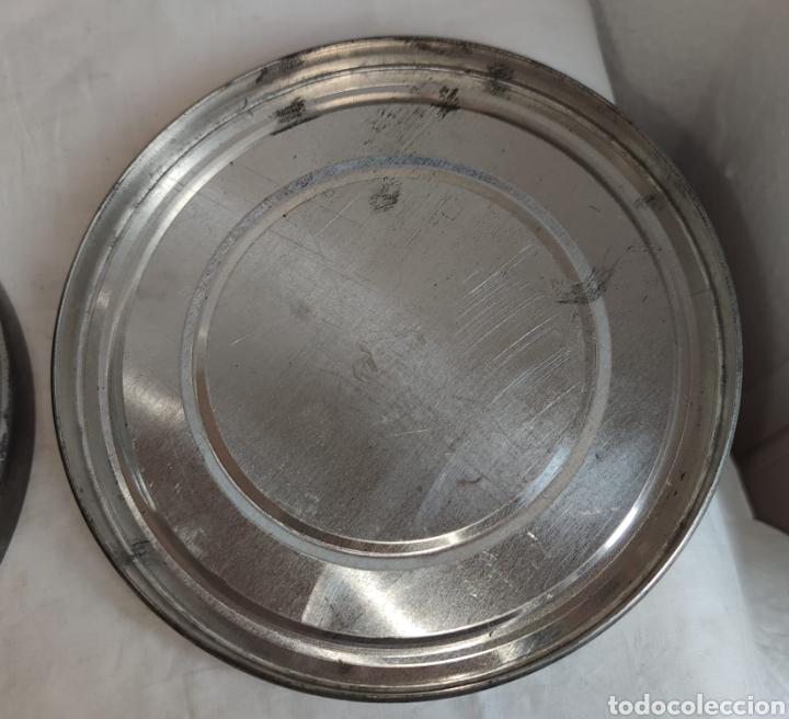 Cine: ANTIGUA CAJA METALICA LATA PARA PELICULA SUPER 8 Y 8MM - Mide 19 cm de diametro. Mide 4,2 cm alt - Foto 8 - 214749180