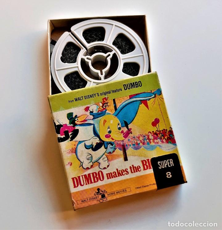 DUMBO PELICULA ORIGINAL WALT DISNEYS SUPER 8MM FILM - 8 X 8.CM (Cine - Películas - 8 mm)