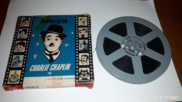 PELÍCULA EN 8MM DE CHARLIE CHAPLIN. CH-51. THE FEMALE IMPERSONATOR. RARA. ATLAS FILMS N.Y. (Cine - Películas - 8 mm)
