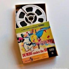 Cine: DUMBO PELICULA ORIGINAL WALT DISNEYS SUPER 8MM FILM - 8 X 8.CM. Lote 235380850