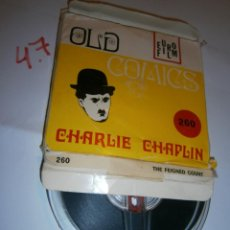Cine: ANTIGUA PELICULA 8MM - CHARLIE CHAPLIN - THE FEIGNED COUNT - OLD COMIC EURO FILM FT 200 MT 60. Lote 241163160