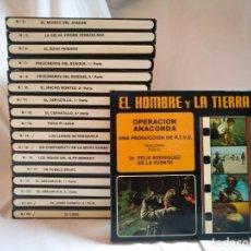 Cinema: COLECCION SUPER 8 FELIX RODRIGUEZ DE LA FUENTE 1976 EL HOMBRE Y LA TIERRA FAUNA IBERICA AMERICANA. Lote 246315970