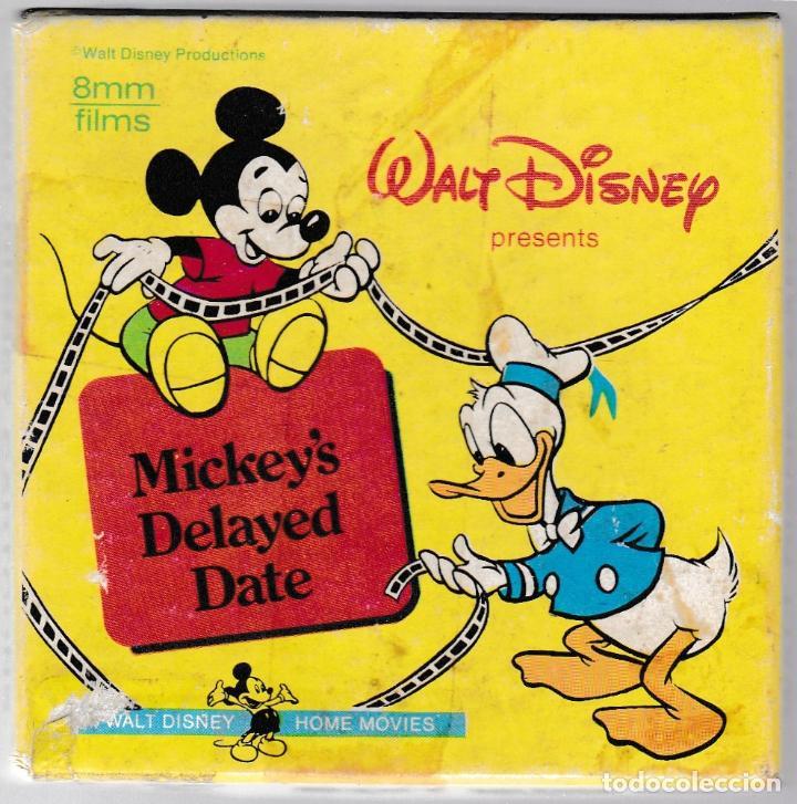 MICKEY'S DELAYED DATE - WALT DISNEY CARTOONS - 8MM FILMS B & W - SILENT 1406 (Cine - Películas - 8 mm)