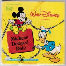 Cine: MICKEY'S DELAYED DATE - WALT DISNEY CARTOONS - 8MM FILMS B & W - SILENT 1406. Lote 252415820