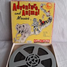 Cine: CIRCO HERE COMES THE CIRCUS ADVENTURE AND ANIMAL MOVIES CASTLE FILMS 8MM B/N. Lote 252817310