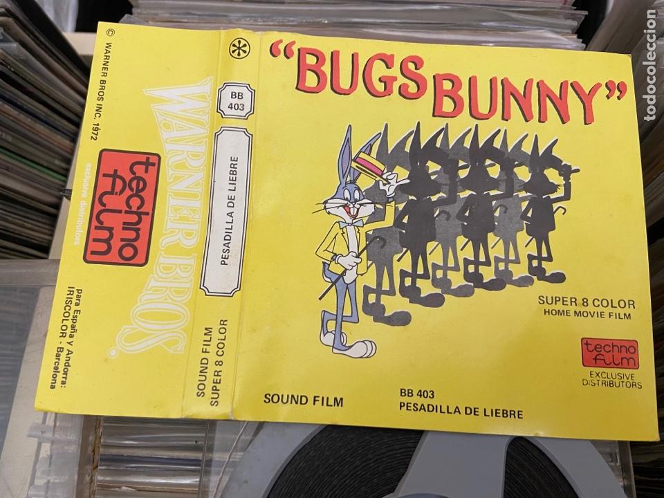 Cine: BUGS BUNNY,PESADILLA DE LIEBRE PELICULA EN SUPER 8 MM SONORA WARNER BROS - Foto 3 - 276022173