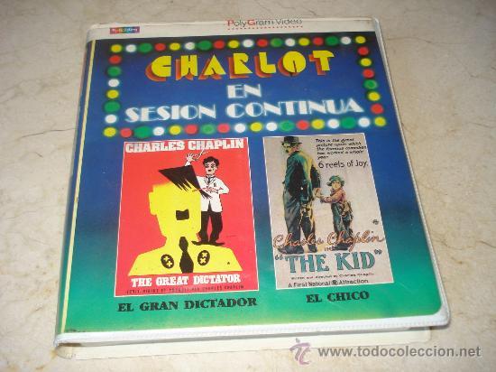 CHARLOT EN SESION CONTINUA VOL. 4 BETA - EL GRAN DICTADOR Y EL CHICO - POLYGRAM 1986 (Cine - Películas - BETA)
