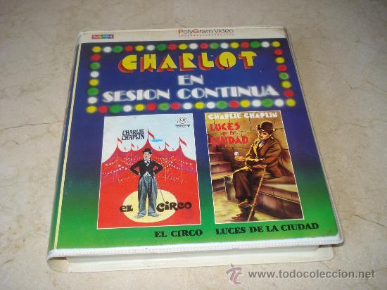 CHARLOT EN SESION CONTINUA VOL. 5 - EL CIRCO Y LUCES DE LA CIUDAD - POLYGRAM 1986 (Cine - Películas - BETA)