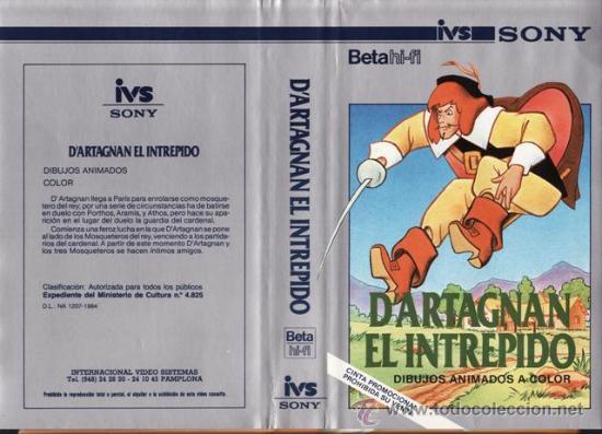 BETA - D'ARTAGNAN EL INTREPIDO - 1973 - JOHN HALAS - ANIMACION - IVS - VER +++ (Cine - Películas - BETA)