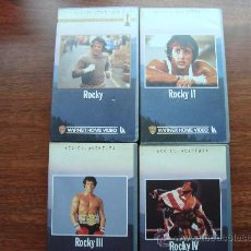 Cine: PELICULA VHS ROCKY, 2 3, 4; 4 PELICULAS SILVESTER STALONE WARNER HOME VIDEO . Lote 26349336