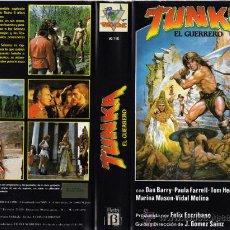 Cine: TUNKA EL GUERRERO | VIDEO BETAMAX DESCATALOGADO | DAN BARRY (1983) PSEUDO CONAN ESPAÑOL | BARBARIANS. Lote 26538002