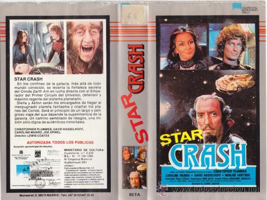 STAR CRASH: CHOQUE DE GALAXIAS • VIDEO BETAMAX • DESCATALOGADA • SC-FI RARITA • PSEUDO STARS WARS (Cine - Películas - BETA)