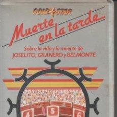 Cine: MUERTE EN LA TARDE, DOCUMENTALES SOBRE LA VIDA DE JOSELITO, GRANERO Y BELMONTE - BETA. Lote 31120865