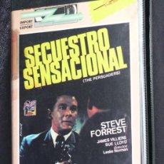 Cine: PELICULA BETA , MUY RAR, SECUESTRO SENSACIONAL LESLIE NORMAN STEVE FORREST. Lote 34797880