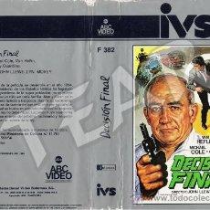 Cine: BETA · DECISION FINAL - EDWARD ASNER / VAN HEFLIN / MICHAEL COLE. Lote 33352070