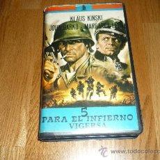 Cine: PELICULA SISTEMA 2000 5 PARA EL INFIERNO CINE BELICO. Lote 37265311
