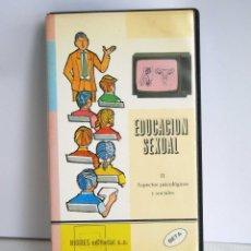 Cine: EDUCACION SEXUAL II ASPECTOS PSICOLGICOS Y SOCIALES HIARES EDITORIAL SA EN BETA. Lote 48903055