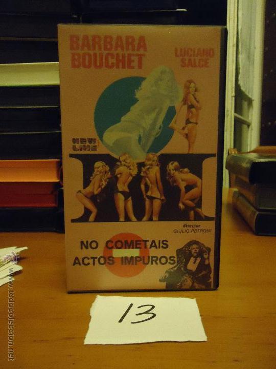 CINE - ANTIGUA CINTA COLECCION BETA - LEER DESCRIPCION - NO COMETAIS ACTOS IMPUROS BARBARA BOUCHET (Cine - Películas - BETA)