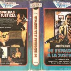 Cine: DE ESPALDAS A LA JUSTICIA - JACK PALANCE, CHRIS MITCHUM - REGALO MONTAJE CON EL VERDADERO FINAL. Lote 60736539