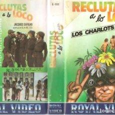 Cine: RECLUTAS A LO LOCO - LOS CHARLOTS - JACQUES DUFILHO - REGALO MONTAJE CON DVD. Lote 74500907