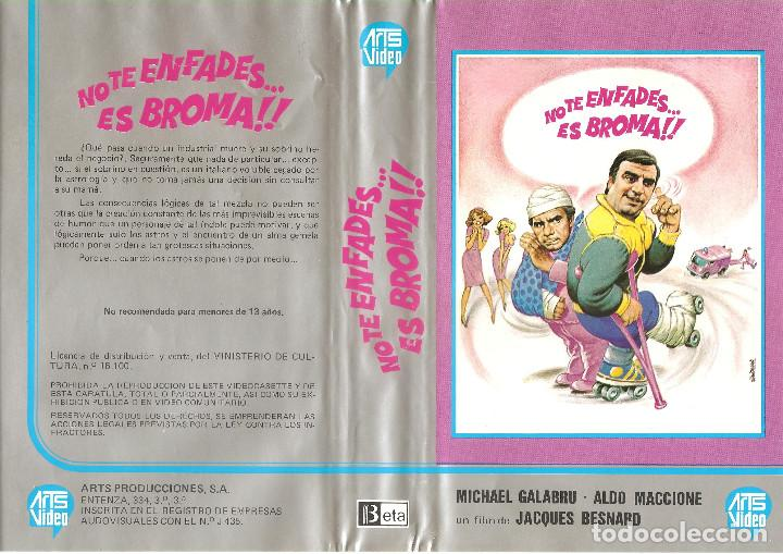 NO TE ENFADES.. ES BROMA (ALDO MACCIONE, MICHEL GALABRU) REGALO TRANSFER A DVD (Cine - Películas - BETA)