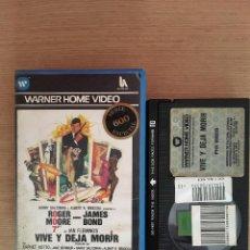 Cine: VIVE Y DEJA MORIR, 007 BETA 1º EDICION VIDEOCLUB. Lote 79623945