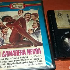 Cine: LA CAMARERA NEGRA- BETAMAX- MARIO BIANCHI- FEMI BENUSSI- CLASIFICADA S- UNICA EN TC. Lote 83761828