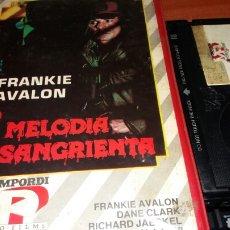 Cine: MELODIA SANGRIENTA- BETAMAX- FRANKIE AVALON. Lote 83862744
