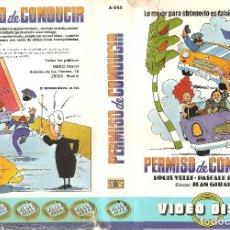 Cine: PERMISO DE CONDUCIR. LOUIS VELLE, PASCALE ROBERTS, MAURICE BIRAUD - REGALO MONTAJE EN DVD DUAL. Lote 89498656