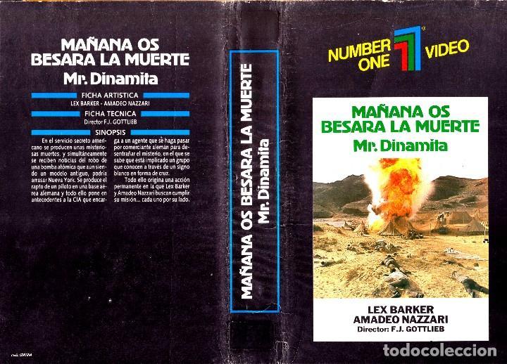 VHS - MR DINAMITA MAÑANA OS BESARA LA MUERTE - LEX BARKER, MARIA PERSCHY, SILVIA SOLAR - UNICA EN TC (Cine - Películas - BETA)