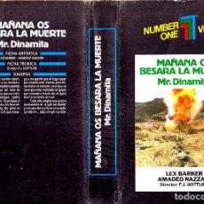 Cine: VHS - MR DINAMITA MAÑANA OS BESARA LA MUERTE - LEX BARKER, MARIA PERSCHY, SILVIA SOLAR - UNICA EN TC. Lote 93304135