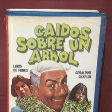 Cine: CAIDOS SOBRE UN ARBOL - PELICULA BETA - LOUIS DE FUNES- GERALDINE CHAPLIN - NEPTUNO FILMS. Lote 97863191
