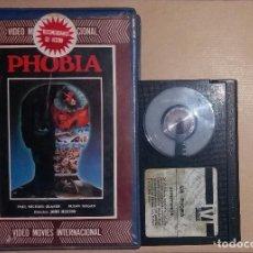 Cine: BETA • PHOBIA (1980) JOHN HUSTON - PAUL MICHAEL GLASER [IVS - TERROR]. Lote 118458379