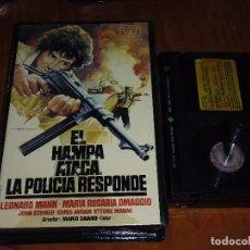 Cine: EL HAMPA ATACA. LA POLICIA RESPONDE . POLIZIESCO - BETAMAX. Lote 120004403