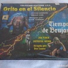 Cine: ESTUCHE TERROR SISTEMA VIDEO 2000/TIEMPO DE BRUJAS Y GRITO EN EL SILENCIO.. Lote 128256239
