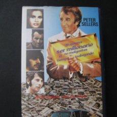 Cine: BETA SI QUIERES SER MILLONARIO NO MALGASTES EL TIEMPO TRABAJANDO PETER SELLERS RINGO STARR. Lote 215187835