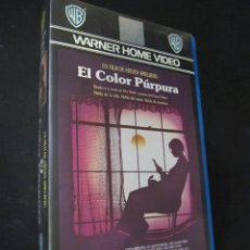 Cine: BETA EL COLOR PURPURA STEVEN SPIELBERG WHOOPI GOLDBERG 1ª EDICION WARNER HOME VIDEO. Lote 129124223