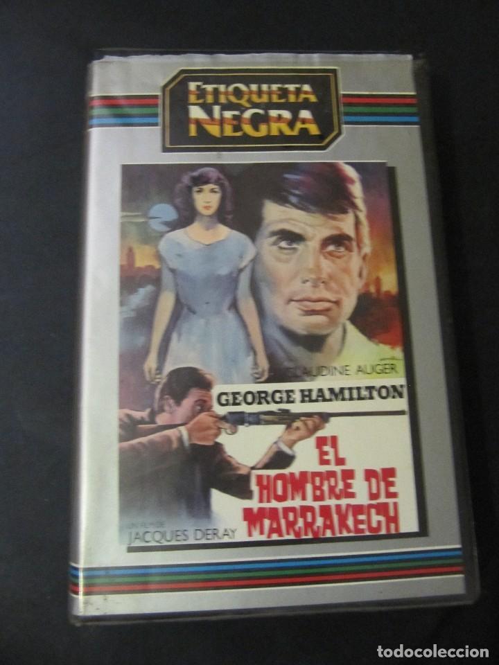 BETA EL HOMBRE DE MARRAKECH GEORGE HAMILTON ALBERTO DE MENDOZA 1ª EDICION ETIQUETA NEGRA (Cine - Películas - BETA)