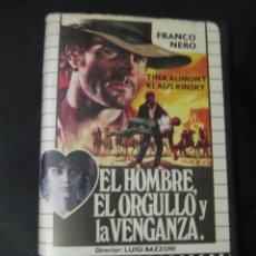 Cine: EL HOMBRE EL ORGULLO Y LA VENGANZA FRANCO NERO KLAUS KINSKI 1ª ED CAJA ORIGINAL SPAGHETTI WESTERN. Lote 129389339